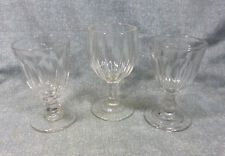 Antique EAPG Flint Glass Water Goblets Cut Flute & Huber