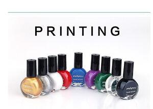 Nail Color Printing Polish Manicure 10ml Colored drawing Special nail art polish