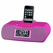 FM-RBDS / AM / Aux-in Digital Tuning Atomic Clock Radio with iPod Dock RCR-10 PK