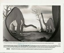 Press Photo Land Before Time Littlefoot The Brontosaurus And Family 1988