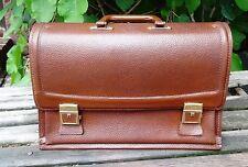 Vintage shabby chic - Alte Ledertasche echt Leder Tasche grosse Aktentasche