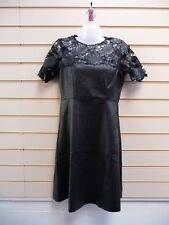 Darling London Dress Black Size 8 Faux Leather Party G025