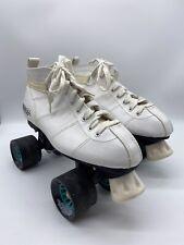 Chicago Bullet Womens White Speed Quad Roller Skates Size 8