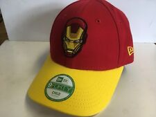 NEW ERA Official 9FORTY Adjustable Baseball Cap * IRON MAN RED/YEL * CHILD KIDS