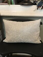 Calvin klein Home Lumbar Pillow Beaded Ivory Decorative Lux Ivory White