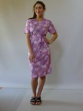 Vintage retro 60s authentic XW 16 - 18 XL unused dress pink floral NOS
