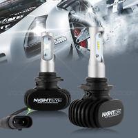 NIGHTEYE LED Headlight Kit 9006 HB4 Fog Lamp Bulbs DRL White Hi/Low Beam 8000LM