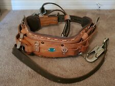 Bashlin Ind Utility Pole Climbing Belt 88 Code 6 01 Size D22 Great Condition