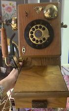 Vintage Spirit of St. Louis 1927 Replica Wall Mount Solid Oak Push Button Phone