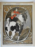 Girl on Horse Jugend Magazine 1899 Issue 2 Jugenstil Art Nouveau graphics