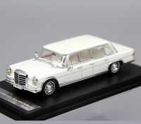DCM 1/64 Scale Mercedes-Benz 600 PULLMAN White Diecast Car Model Toy Collection