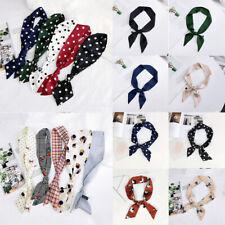 Small Scarf Satin Neckerchief Head-Neck Hair Band Rope Bag Tie Wristband Wrap