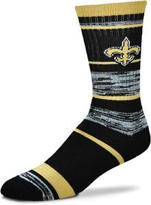 NEW! New Orleans Saints Brees NFL RMC Stripe Large Crew Socks Fits 10-13 Gift