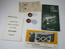 Late Stereo Realist camera instructions original filters, etc. Nice!!