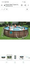 Bestway Swim Vista Power Steel 4,88x1,22 Rattanoptik 19.480 L Brandneu
