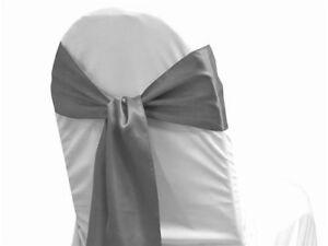 PACK OF 100 Satin Chair Cover Sash Bow Sashes Wedding Banquet decor - FREE SHIP