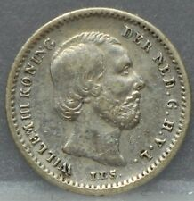 Nederland - The Netherlands 1869 stuiver, 5 cent, Willem 3 Silver KM# 91 Nice!
