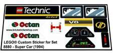 Lego® Custom Pre-Cut Sticker for Technic set 8880 - Super Car (1994)