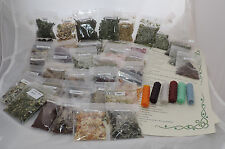 Witches starter set Pagan spell kit 40 herbs resins ingredients & 6 candles