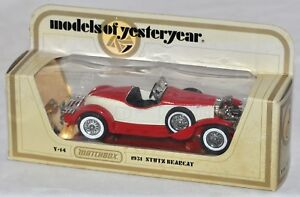 Matchbox Model of Yesteryear Y-14 1931 Stutz Bearcat NIB 1:44 Never played with