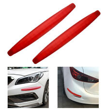"Car SUV 16"" Carbon Front Bumper Protector Corner Guard Anti-Scratch Sticker Mold"
