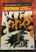 Coloring DC - Batman in Court of Owls -  Adult Coloring Book -  NEW