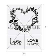 Chalk Couture Reuseable Transfer NEW 'Heart Wreath' Valentine Love