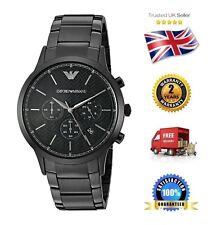 Emporio Armani AR2485 Men's Black Stainless Steel Chronograph Date Quartz Watch