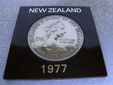 NEW Zealand Silver Jubilee ONE DOLLARO 1977
