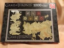 Game of Thrones Jigsaw Puzzle 1000 Pieces Known World Map Complete Jumbo VGC UK