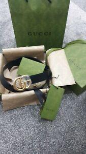 gucci belt woman  black leather 90/36