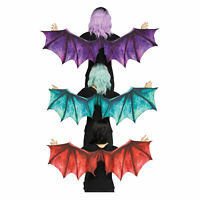 Adult Medieval Dragon Dinosaur Halloween Costume Wings Accessory Blue Red Purple