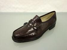 NEU GIORGIO RICCI Leder Slipper Gr.45 Loafer Schuhe Leather Shoes Braun Bordeaux