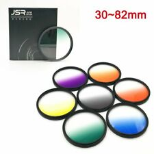 7 in 1 30 37 52 55 58 67 72 77 82mm Camera Graduated Color Filter lens Filter