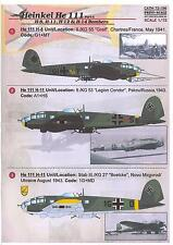 Print Scale Decals 1/72 HEINKEL He-111H8 H-11 H-12 & H-14 Medium Bombers Part 4