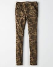 New American Eagle AE HIGH-WAISTED JEGGING Camo Army Olive Green 6 Short