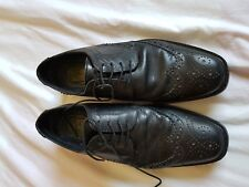 MENS RED TAPE BLACK LACE UP SHOES SIZE 8