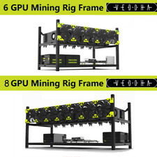Veddha 6 GPU 8GPU Aluminum Stackable Open Air Mining Computer Frame Rig Ethereum