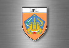 Sticker Decal Souvenir Car Coat of Arms Shield City Flag Bali Indonesia