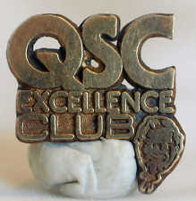 VINTAGE QSC STERLING SILVER TOP QUALITY SERVICE CLEANLINESS EXCELLENCE CLUB PIN