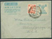 BRITISH INDIA TO USA Airletter 1949 VF