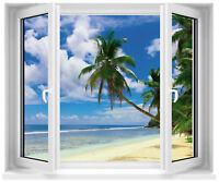 Sticker fenêtre trompe l'oeil Palmier réf 706