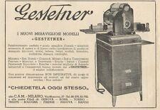 Z1080 GESTETNER - Pubblicità d'epoca - 1934 Old advertising