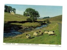 Yorkshire Dales - Langstrothdale with River Wharfe - Postcard Franked 1988