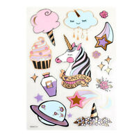 Tropical Flamingo Foil Accented Watercolor Epoxy Stickers 24-Piece