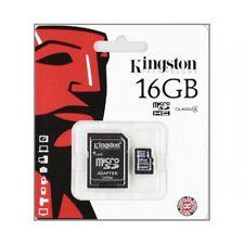 KINGSTON SCHEDA DI MEMORIA MICRO SD 16GB CLASSE 4 SDHC MICROSD SMARTPHONE