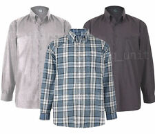 Polycotton Checked Long Sleeve Casual Shirts & Tops for Men