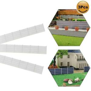 1 Meter Model Railway White 1:87 Building Fence Wall HO OO Scale LG0787