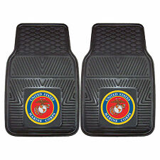 "US Marine Corps USMC Logo Car Truck Mat 17"" x 27"" Heavy Duty 3D Molded Vinyl 2pc"