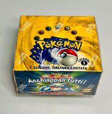 Pokemon base set 1st edition italiano I T A L I A N  Booster Box Sealed
